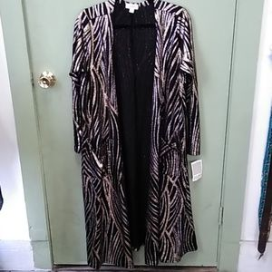 Lularoe metallic cover up size large new with tags
